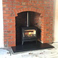 Brick Arch With Stove